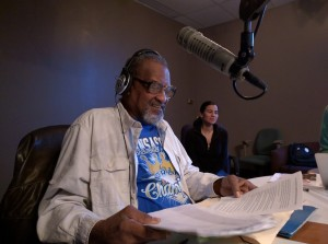 Diesel Health Project Lead Community Organizer Richard Mabion conducts interview on KKFI.
